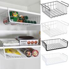 Storage Basket Kitchen Multifunctional Refrigerator Rack Under Cabinet Shelf Wire Organizer