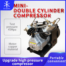 Tuxing 4500psi mini-compressor de ar pcp cilindro duplo compressor de alta pressão bomba pcp para rifle de ar mergulho inflator 300bar