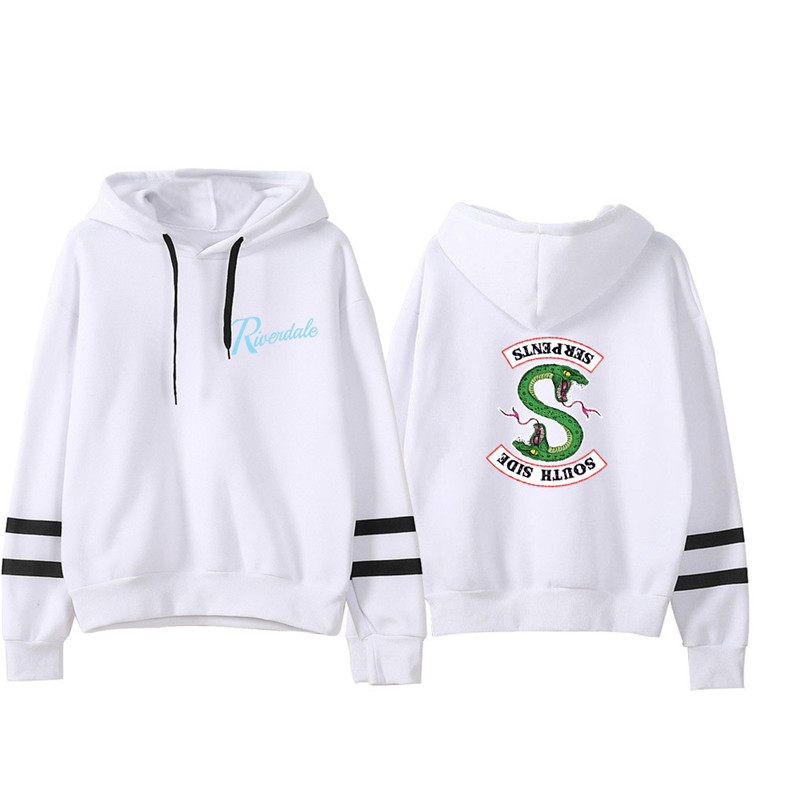 Riverdale Southside Serpents Hoodies Sweatshirts MenS Women South Side Serpents Hoodie Long Sleeve Striped Pullover Top Oversize 21