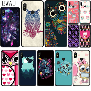 EWAU Cute Animal Owl Silicone phone case for Xiaomi Redmi Note 4 4X 5 6 7 8 Pro 5A Prime 8T