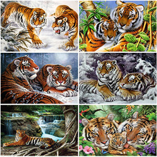 Scenery Diamond Embroidery 5D DIY Diamond Painting Tiger Full Square/Round Drill Mosaic Painting Cross Stitch Home Decoration