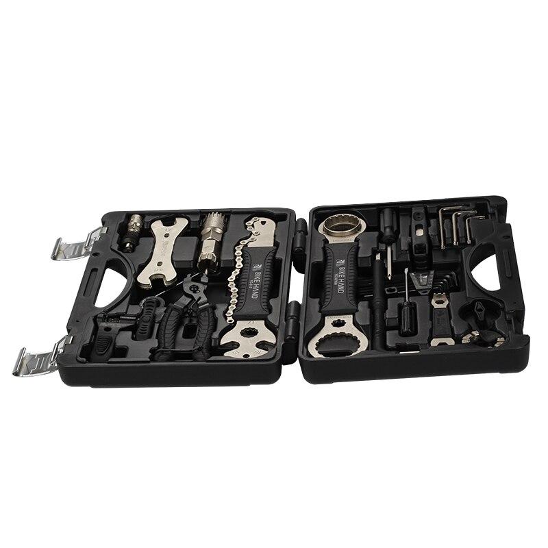 BIKEIN 18 en 1 Kit d'outils de réparation de vélo ensemble multifonction vtt outils de réparation de chaîne de pneu clé à rayons tournevis hexagonal outils de vélo - 2