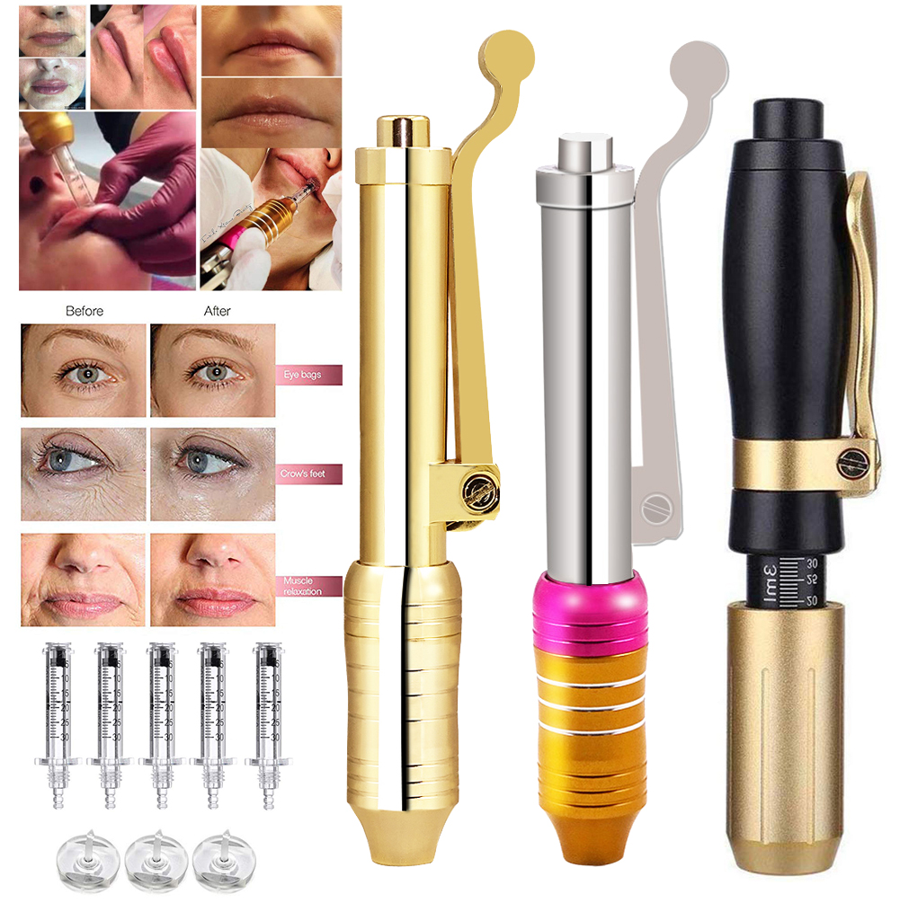 4 Type High Pressure Hyaluronic Acid Pen 0.3ml&0.5ml Ampoule Head For Anti Wrinkle Lifting Lip Atomizer Hyaluron Pen Gun