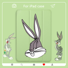 """Funny Bugs Bunny Case for iPad Mini 2 3 4 5 PU Leather Cover Hard Back Cases For Air 2 3 10.5"""" 11"""" 12.9"""" pro 2020 ipad case"""