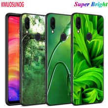 Black Silicone Cover Green natural cute plant for Xiaomi Redmi Note 8 7 6 5 4X 4 K20 Pro 7A 6A S2 5A Plus Phone Case