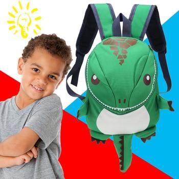3D Dinosaur Backpack For Boys Girls Children waterproof backpacks kids kindergarten Small School Bag Girls Animal School Bags 1