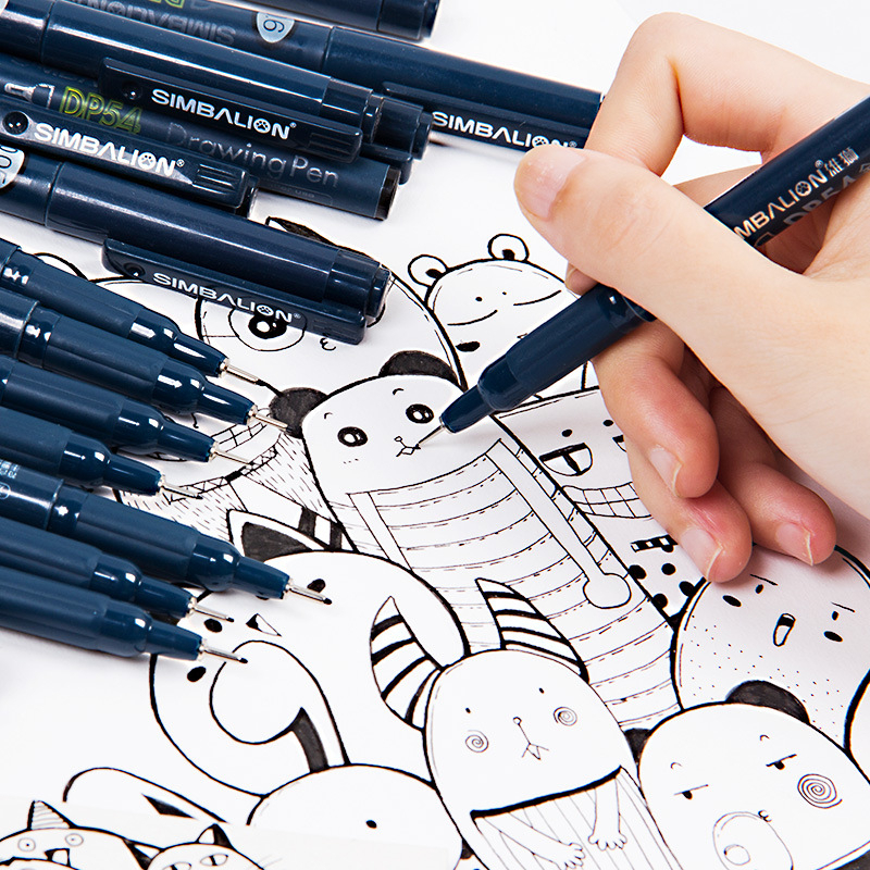 Waterproof Art Sketch Comics Micron Art Marker Pen Pigment Liner Water Based For Drawing Handwriting School Office Stationery
