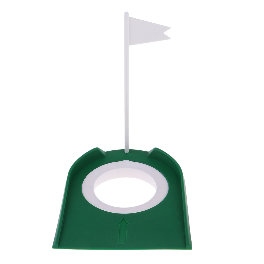 Golf Putting Hole & Flag Putting Practice Cup Practice Training Aids Golf Training Putters Mat Equipment Accessories