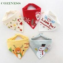 COZINESS Baby Triangle Saliva Towel Pure Cotton Baby Bib Double Snap Button Newborn Children