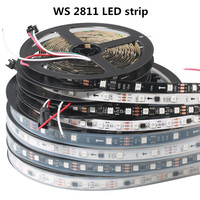 LED Strip light WS2811 RGB Addressable 30/48/60led Pixels External 1 Ic Control 3 Leds Normal/Bright 50/100M DC12V DHL Delivery