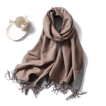 Winter Cashmere Scarf Women Thick Warm Shawls Wraps Lady Solid Scarves Fashion Tassels Pashmina Blanket quality foulard 2020 New 4