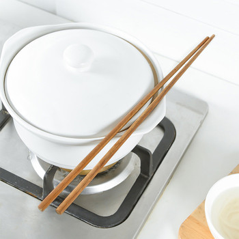 38CM naczynia domowe długie smażone drewno pałeczki kluski pałeczki wielokrotnego użytku naczynia zastawa stołowa kuchnia #40 tanie i dobre opinie CN (pochodzenie) Drewna home decor home decoration accessories