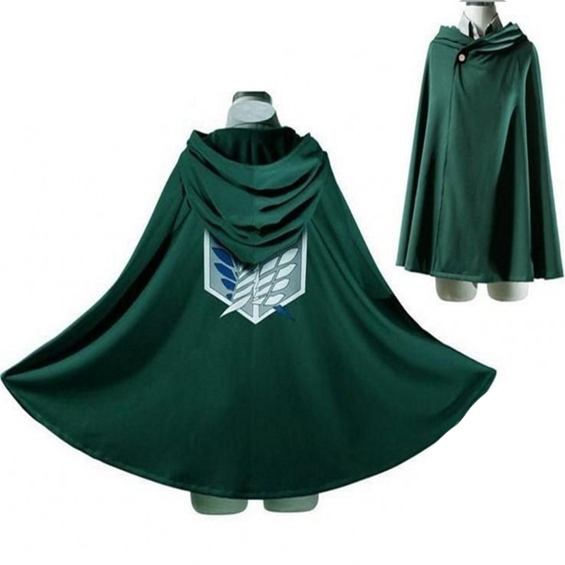 Aot Cosplay Japanese Hoodie Attack on Titan Cloak Shingeki no Kyojin Scouting Legion Cosplay Costume anime cosplay green Cape me 2
