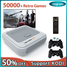 Super Console X Pro 4K HD Retro Game Console For PSP/PS1/DC/N64,Video Game Console With 50000+ Games,KODI,Support 2 Players
