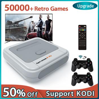 Super konsola X Pro 4K HD gra Retro konsole na PSP PS1 DC N64 gra wideo konsola z 50000 + grami KODI obsługa 2 graczy tanie i dobre opinie KINHANK NONE CN (pochodzenie) Super Console X 64bit 4 core S905M linux 64GB 128GB Support more than ten languages 33000 40000 50000