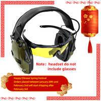 Cache-oreilles de tir électronique tactique d'amplification anti-bruit casque de protection auditive de chasse
