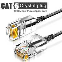 Cat6 a câble Ethernet câble réseau de raccordement Ultrafine, pour routeur RJ45 ordinateur PS2 PS3 XBox réseau LAN cordons 0.5m 1m 1.5m 2m