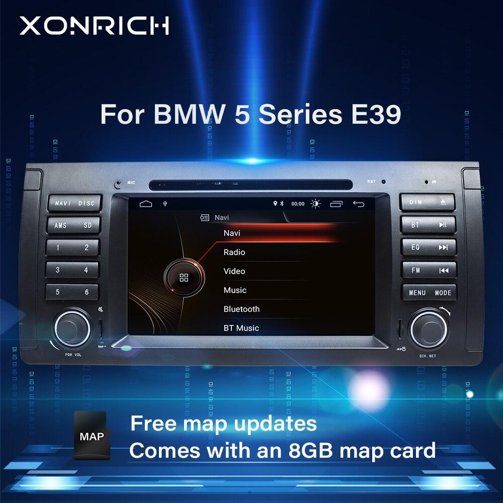Xonrich 1 Din автомобильный DVD Multimeida плеер для BMW E39 M5 BMW X5 E53 2002-2004 2005 аудио GPS Навигация стерео головное устройство Авторадио