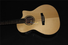 цена на free shipping all solid wood handmade acoustic guitars custom cutaway fully solid guitar