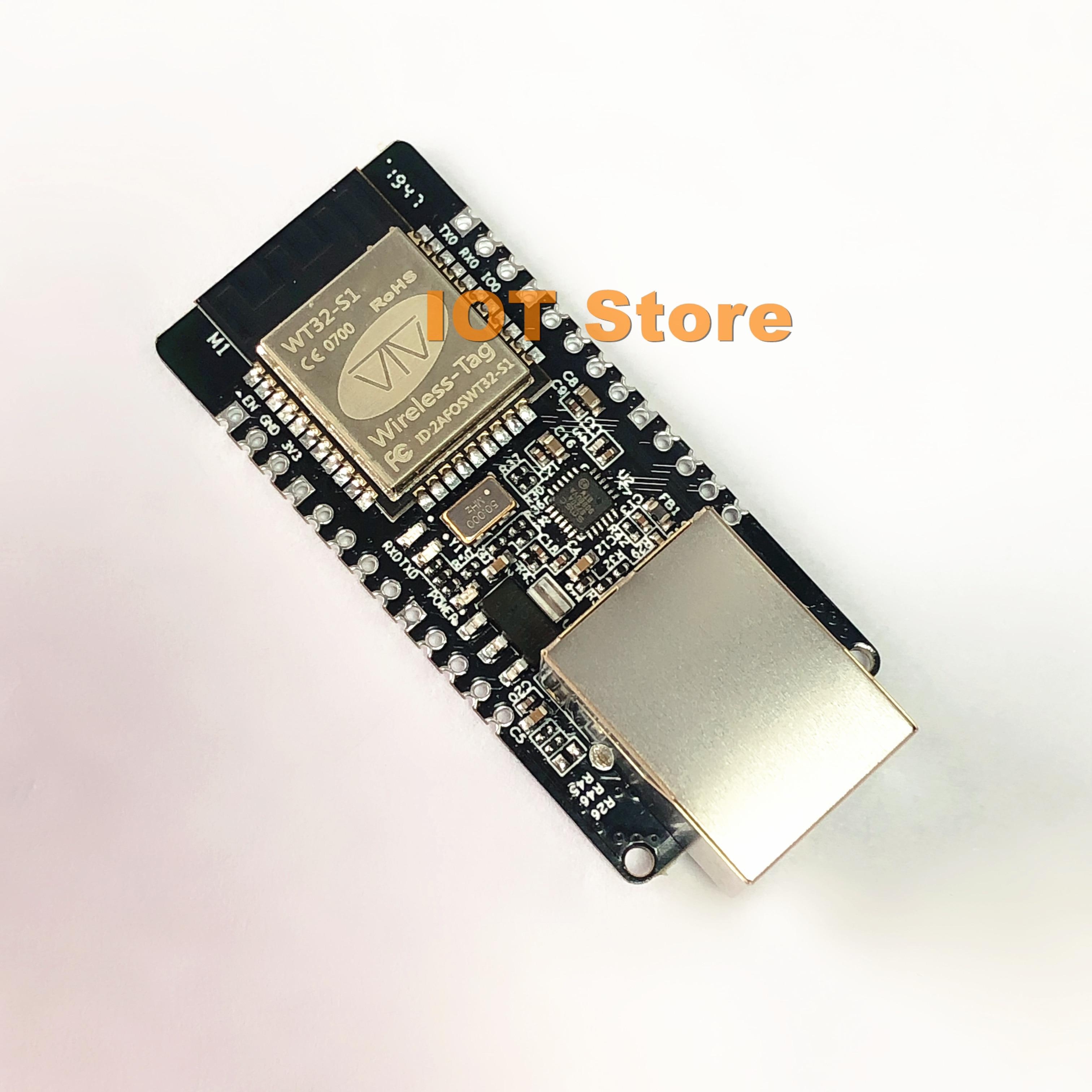 WT32-ETH01 WIFI+Bluetooth RJ45 Gateway Two-in-one Embedded Ethernet Module Serial Port Transparent Transmission