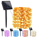 LED Outdoor Solar Lamp String Lights 100/200 LEDs Fairy Holiday Christmas Party Garland Solar Garden Waterproof 7m 12m 22m Decor