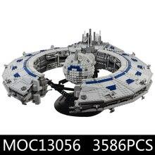 Звездные игрушки войны класс Линкор(дроид контроль корабль) совместим с Legoing MOC-13056 строительные блоки Дети Рождественские подарки