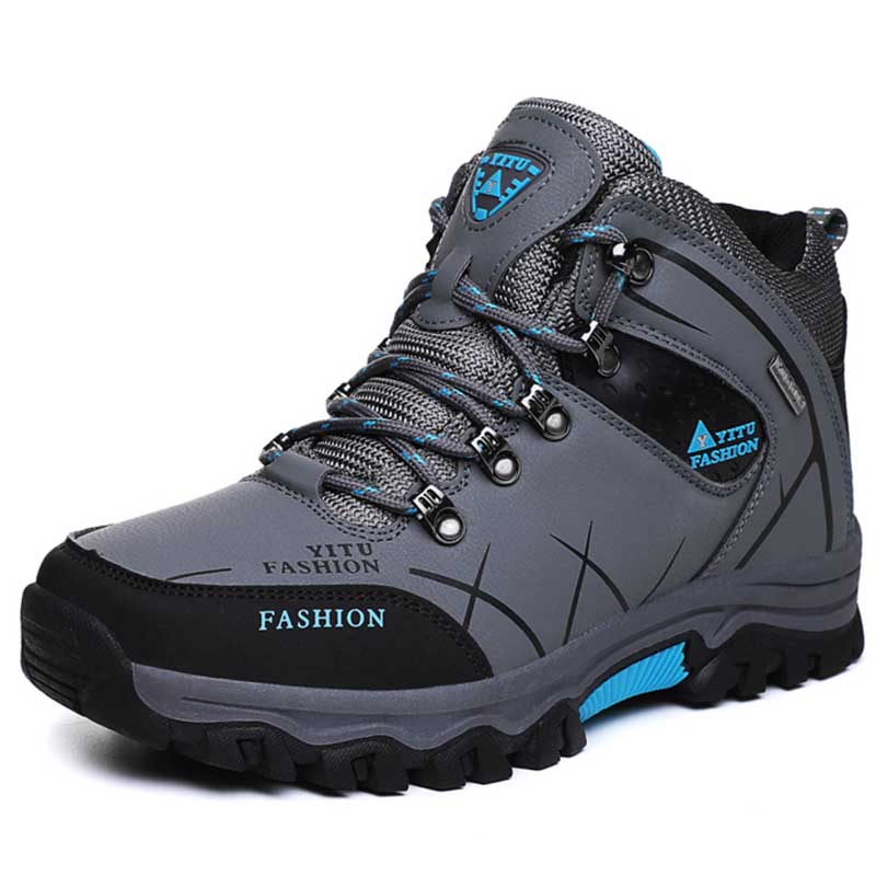 Image 2 - Brand Men Winter Snow Boots Plush Warm Men Snow Boots High Quality Waterproof Leather Sneakers Outdoor Male Hiking Boots 39 47-in Snow Boots from Shoes