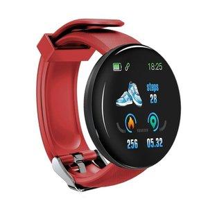 Умные часы с пульсометром, умные часы с монитором кровяного давления, водонепроницаемые спортивные фитнес-трекер, часы D18 Reloj inteligente