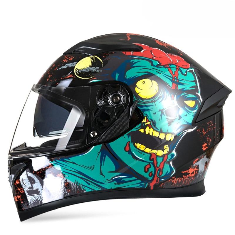 Jiekai オートバイヘルメット男性フルフェイスヘルメットモト乗馬モトクロスヘルメットバイクドット ECE 認証カスコモト  グループ上の 自動車 &バイク からの ヘルメット の中 1