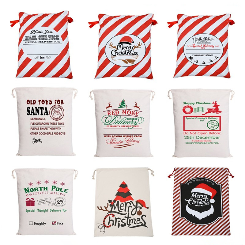 Personalized Santa Sack Canvas Gift Bag