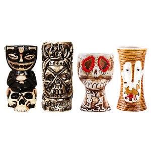 Image 2 - Tiki canecas personalidade havaiano cocktail copo criativo canecas cerâmica copo copo zombie copo cerâmica tazas de ceramica creativas