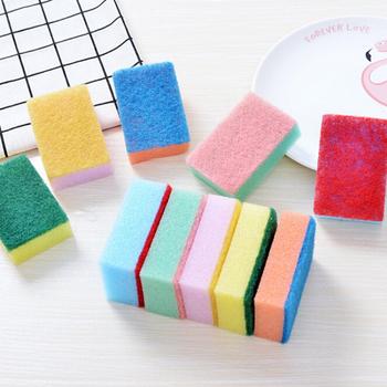 Akcesoria kuchenne narzędzia do czyszczenia do domu do zmywania naczyń i łazienka gąbka do dekontaminacji środki czystości losowe kolory tanie i dobre opinie CN (pochodzenie) Sponge Brush Ekologiczne Na stanie KİTCHEN 7cm * 10cm * 3cm 2 76 x 3 94 x 1 18
