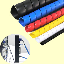 Multicolour 8mm electrical wire protective case computer cable storage management-ray device pipe bag line casing 8mm hose protection wire case hose pipe computer principle line cable finishing line with fixed bundle of wire bobbin winder hub