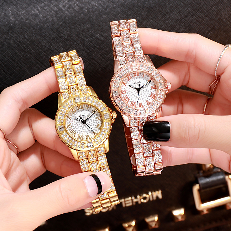 Women Watches Luxury Diamond Quartz Woman Watch Fashion Creative Wristwatch Women Watch Wrist Simple Elegant Ladies Female Clock