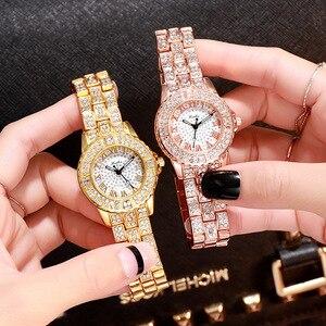 Women Watches Luxury Diamond Quartz Woman Watch Fashion Creative Wristwatch Women Watch Wrist Simple Elegant Ladies Female Clock(China)