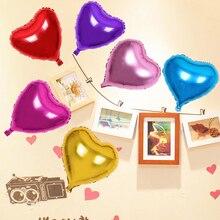 5 шт. 10 дюймов в форме сердца алюминиевые шары надувные из фольги для дня рождения украшения гелиевый воздушный шар Globos Свадебные украшения