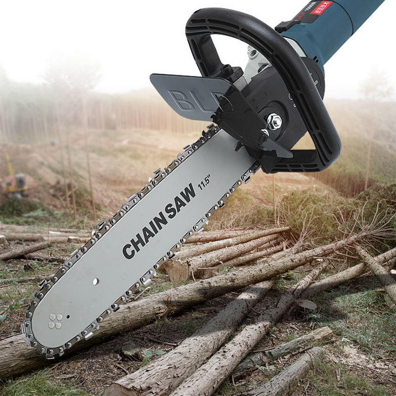 New 11.5 Inch Portable Chainsaw Bracket Replacement Electric Angle Grinder Chain Saw Blade Set Chain Saw Woodworking Power Tools