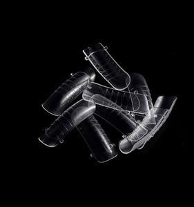Накладные ногти 120cs/100 шт., прозрачный цветной чехол, накладные искусственные ногти во французском стиле, искусственный акриловый гель, набо...