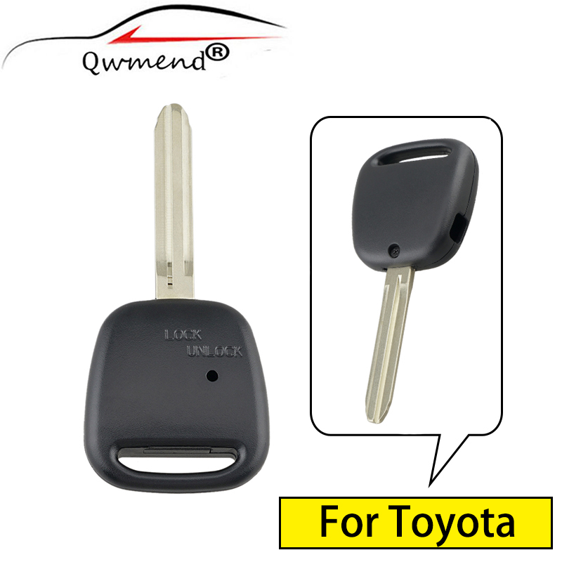 QWMEND 1 Side <font><b>Button</b></font> TOY43 Blade Car <font><b>Remote</b></font> <font><b>Key</b></font> Shell For <font><b>Toyota</b></font> <font><b>Avensis</b></font> Estima / Tarago Celica Corolla Camry Echo Kluger image