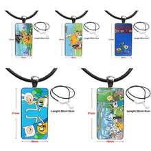 Adventure Time Original For Men Women Party Gift Fashion Glass Cabochon Pendant Rectangle Necklace Choker Necklace Jewelry(China)