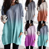 Women Casual Loose Dress Pocket Colors Spring Winter Boho Full Long Sleeve Befree Mini Dress Plus Sizes Dresses Robe Femme 2020