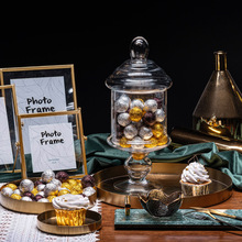 Props-Decoration Dessert-Table Chocolate-Paper Simulation Candy-Ball Gold Scene Shooting