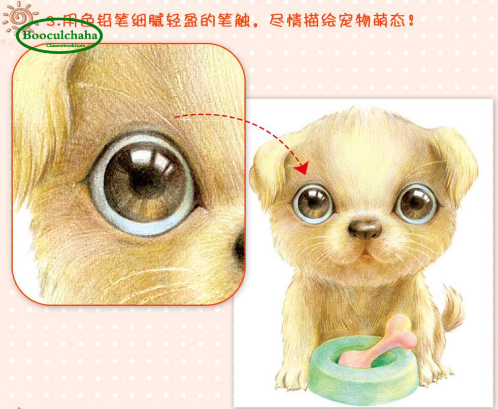 Us 17 37 21 Off Booculchaha Animals Drawing Book 30 Kinds Of Cute Pets Color Pencil Painting Books Basic Introductory Technique Art Book On