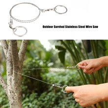 Outdoor Stainless Steel Wire Saw Emergency Equipment Survival Gear Tool Kit Hand Pocket Wire Saws for Camping Hiking Hunting