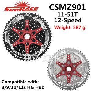 Image 1 - SunRace CSMZ901 CSMZ601 toda la serie קלטת 12 מהירות 11 51T CSMZ903 גלגל תנופה 12 S סבבת תואם Shimano SRAM