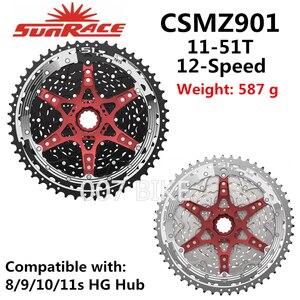 SunRace CSMZ901 CSMZ601 toda la serie Cassette 12 SPEED 11-51T CSMZ903 Flywheel 12S Sprocket Compatible Shimano SRAM