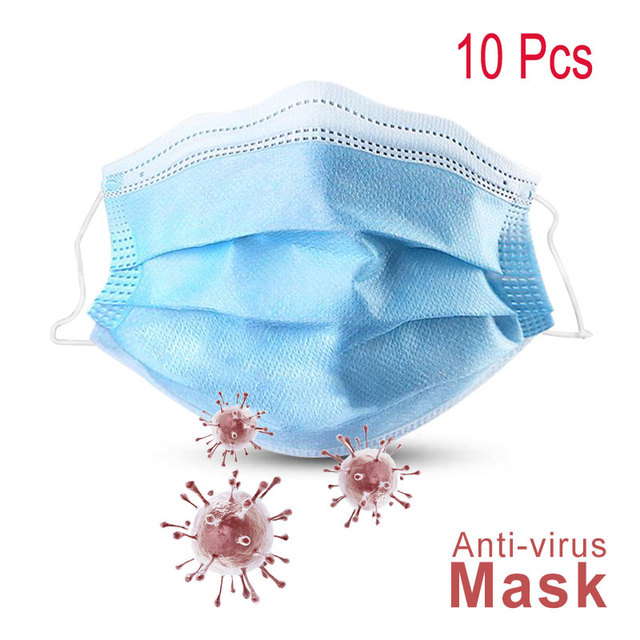 10pcs Mouth Masks Disposable Dental Mask Face Mouth Anti dust  Mask Dustproof Earloop Non Woven Mouth Masks Face Mask Flu 4