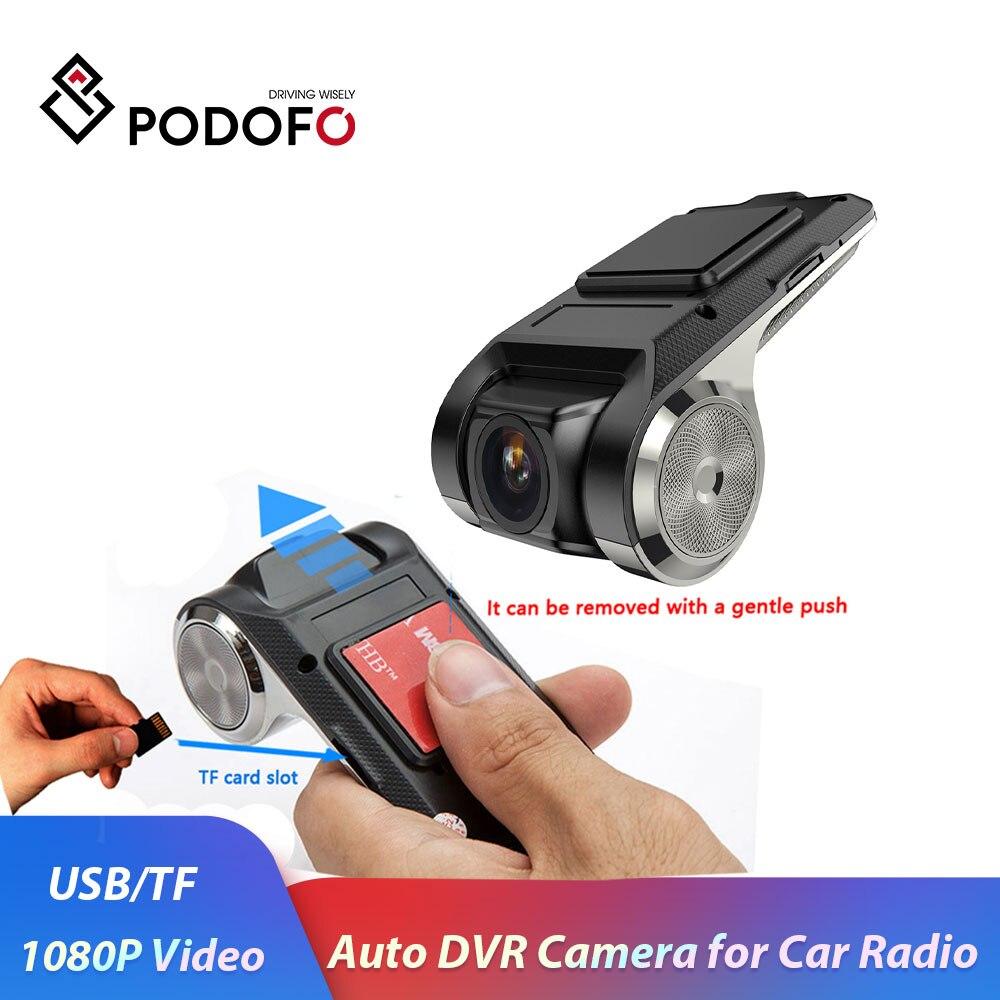 Podofo android 車カメラレコーダーナイトバージョン/ループ · レコーディング 1080 1080p 自動レコーダー 170 ° 車 dvr adas dashcam dvr 車レコーダー -
