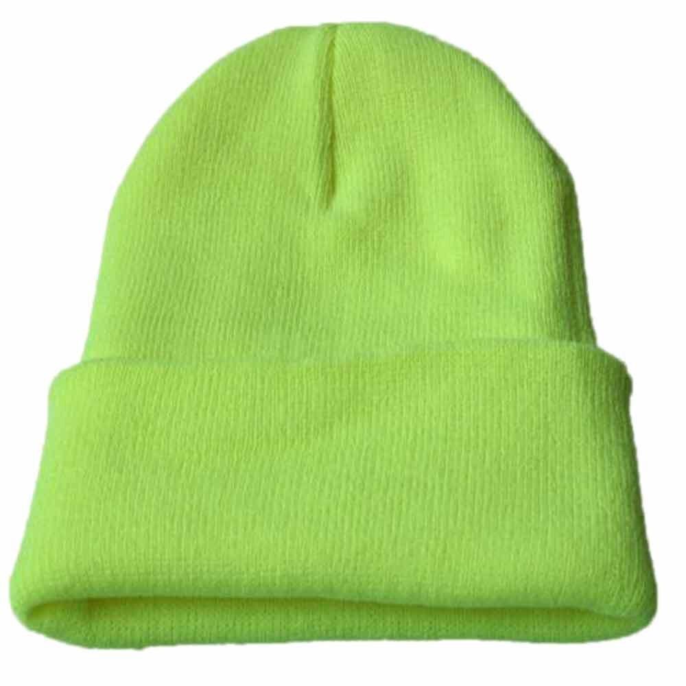 Осенне-зимняя одежда из шерсти смеси мягкий теплый вязаный Кепки Повседневное Chapeau унисекс сапоги высотой выше колена Вязание шапка в стиле хип-хоп кепка, теплая зимняя Лыжная шапка# Y5 - Цвет: Mint Green