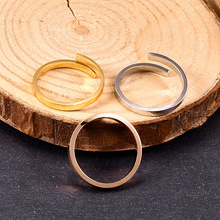 Amaiyllis 18K Minimalist Cross Glossy Open Rings  Personality Simple Fashion Gold Rings For Women Jewellry Gift недорого